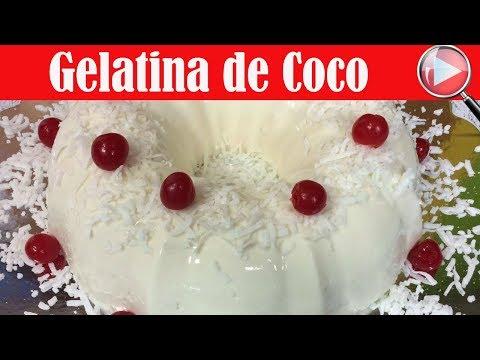 Gelatina de Coco / Receta Facil - Recetas en Casayfamiliatv