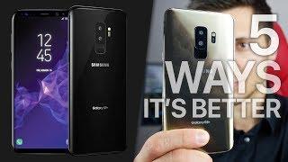 Samsung Galaxy S9 vs iPhone X! 5 Ways It's Better