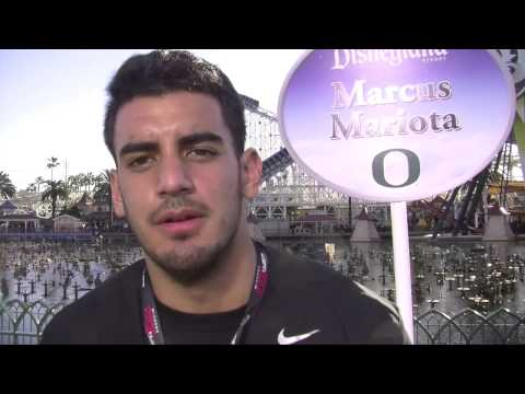 Marcus Mariota on Goofy, football and the happiest place on Earth: Ducks at Disney
