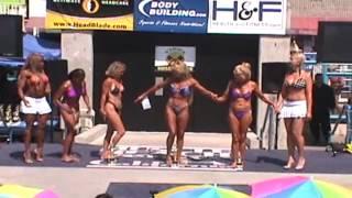 Women Bodybuilders, Bikinis, Models compete: Labor Day Venice Beach, CA 9/03/07