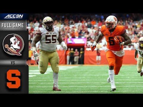 Florida State vs Syracuse Full Game   2018 College Football