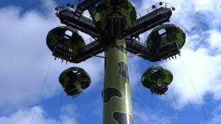 Disneyland Paris - Attraction Toy Soldiers Parachute Drop (onride) HD