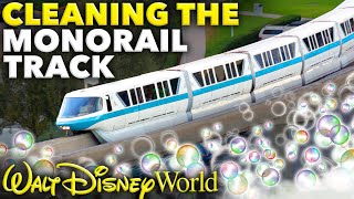 Cleaning the Disney Monorail Track