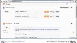 7  Blogger dashboard