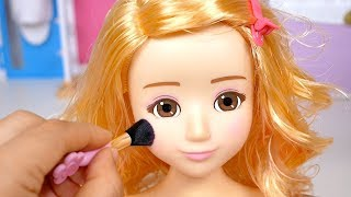 Baby Doll Make-up & Hair Designer Toy Set Cosmetics Toy Soda