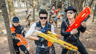 LTT Game Nerf War : Captain Warriors SEAL X Nerf Guns Fight Criminal Group Inhuman new Detachment
