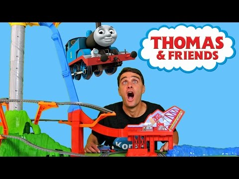 Thomas & Friends Sky High Bridge Jump !     Toy Review    Konas2002