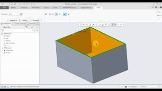 CREO 5.0 Tutorial Tamil 37 : Shell | Engineering | Part | creo