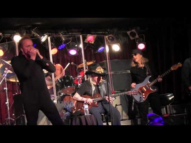 Johnny Winter with Debbie Davies  NYC 2-23-14