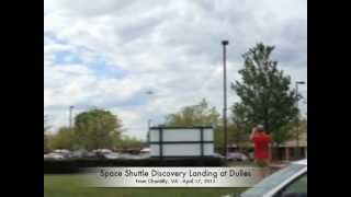 Space Shuttle Discovery Flyby & Landing