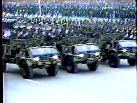 Parada Militar 1989 en Chile-Ejército de Chile completo