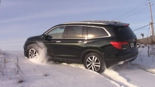 AWD TEST: Honda Pilot 2016 in snow and ice