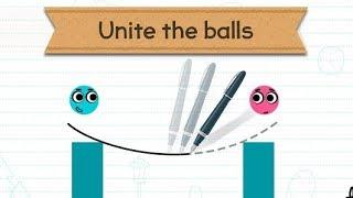 Chơi Love Balls game giải đố tìm cách vẽ đường đi cho 2 viên bi gặp nhau