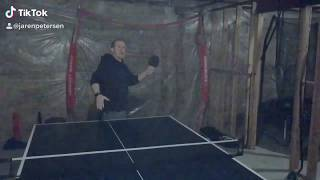 Ping Pong Belly Button Trick Shot