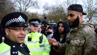 You cant pray! Muhammad Hijab & Police | Speakers Corner | Hyde Park
