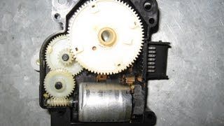 Lexus servo motor air mix repair taken apart by froggy