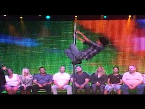 Pole Dancing Routine in Las Vegas.  (Hypnotized to be Strippers!)