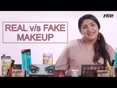 REAL V/S FAKE Makeup | Ft. Shreya Jain