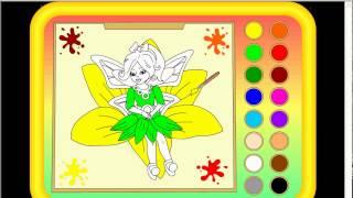 Раскраска с красками для девочек бесплатно