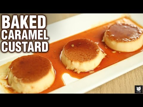 Baked Caramel Custard Recipe - How To Make Caramel Custard in Oven - Dessert Recipe - Neha