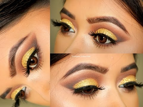 Gold Cut Crease || Eid Makeup Tutorial