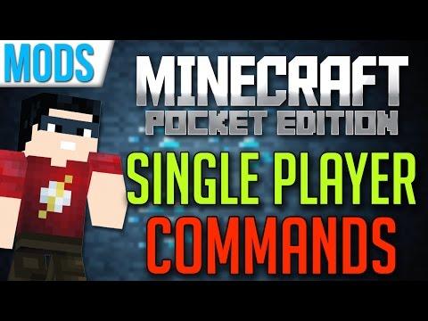 Single Player Commands MOD   Minecraft Pocket Edition