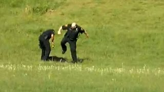 cops, Police Caught Kicking, Tasering Man Lying on Ground (VIDEO) 1/28/13