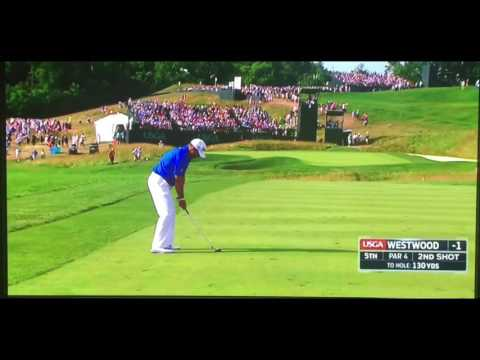 Lee Westwood Amazing Eagle on 5th Hole during US Open 3rd Round 2016!