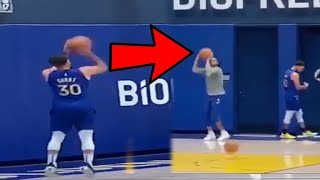 Stephen Curry STAYS AFTER PRACTICE TO HELP D'ANGELO RUSSELL WITH HIS JUMP SHOT AGAIN!