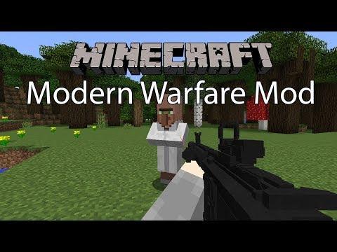 Minecraft Mod รีวิว - Mod อาวุธสงคราม | Modern Warfare Mod [1.12.2]