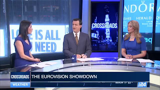 Explaining Eurovision to American audience on #i24NEWS #CROSSROADS