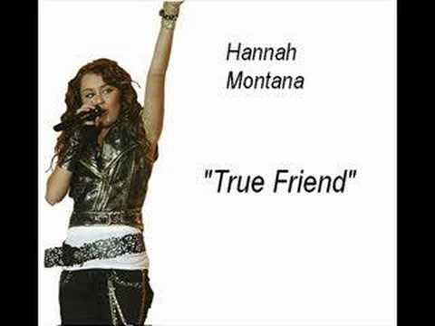 Hannah Montana - True Friend (acoustic) - Official Karaoke video