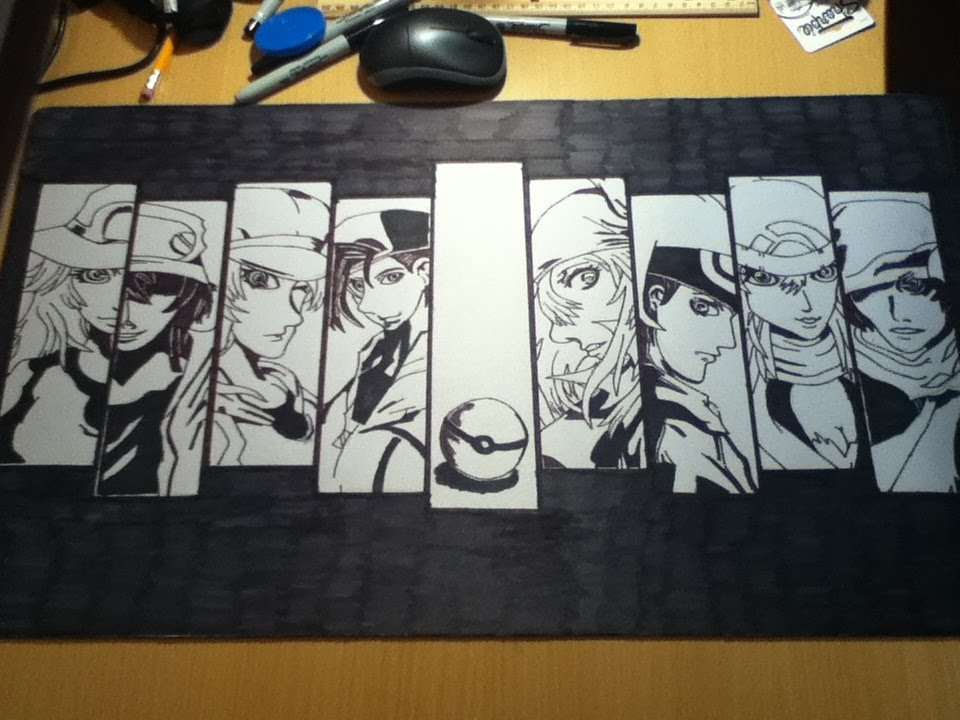 Amazing Custom Pokemon Trainer Playmat Drawing Youtube
