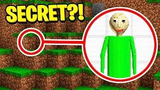 I FOUND BALDIS SECRET BASE in Minecraft Pocket Edition