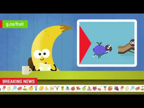 2016 Doodle Fruit Games: Apple Water Polo Newscast