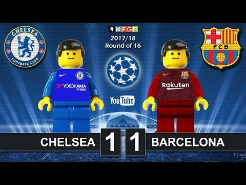 Chelsea vs Barcelona 1-1 • Champions League 2018 (20/02/2018) Goals Highlights Lego Football