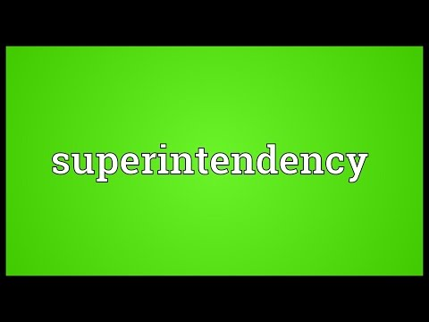 Header of superintendency