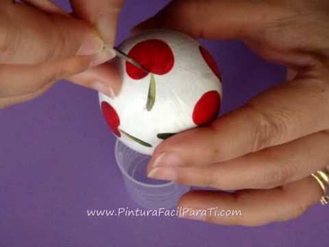 2 Como Pintar Huevos de Pascua *How to Paint Eggs* Como Decorar Huevos Pintura Facil Para Ti