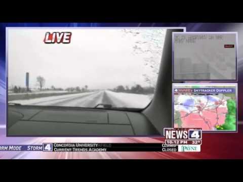 News 4's Kristen Cornett follows snowstorm headed for St. Louis - (2013)