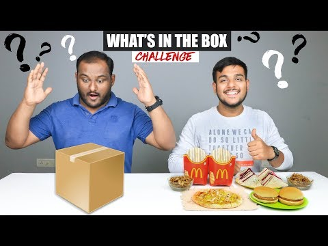 WHATS IN THE BOX CHALLENGE  Food Eating Competition  Food Challenge
