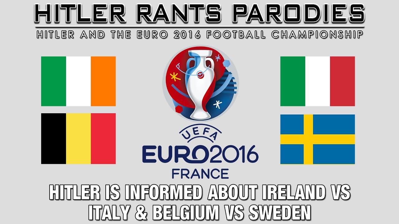 Hitler is informed about Ireland Vs Italy & Belgium Vs Sweden