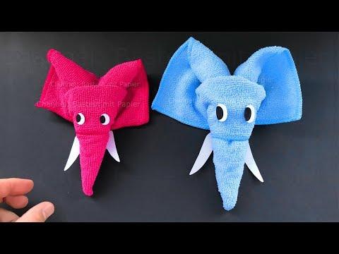 Basteln mit Papier & Handtuch: Elefant als Deko selber machen