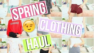 TRY ON SPRING CLOTHING HAUL!!