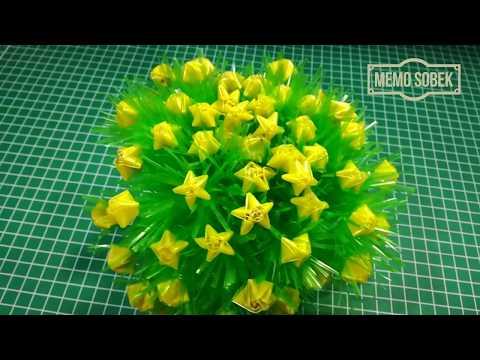 Cara Membuat Bunga Hias Dari Sedotan/Pipet