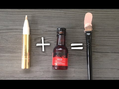 MAKE OUR OWN CONCEALER/CORRECTOR WITH RED FOOD DYE!
