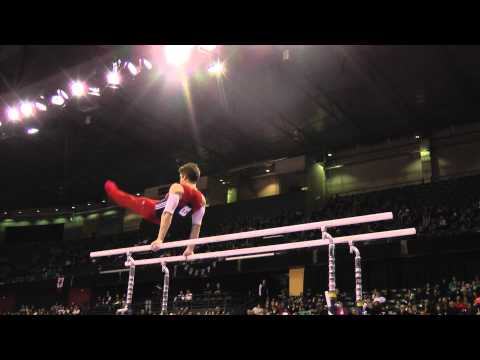 Chris Brooks - Parallel Bars - 2012 Kellogg&#039;s Pacific Rim Championships - Team/AA Final
