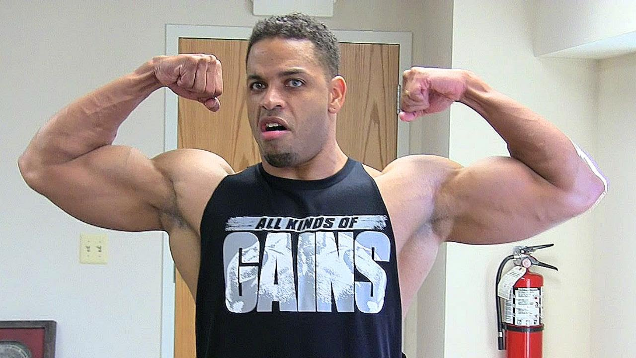 How to cut a t shirt into a tank top hodgetwins youtube for Buff dudes t shirt