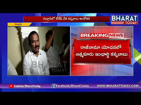 Nellore TDP Leader Kannababu Protest NTR Statue | Atmakur | BharatToday