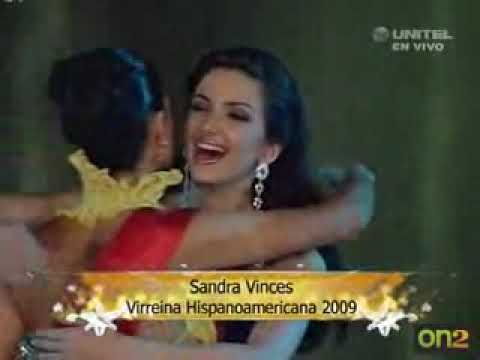 Adriana Vasini Reina HispanoAmericana 2009 Crowning Moment
