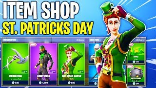 Fortnite Item Shop! ST. PATRICKS DAY SKINS & MORE NEW STUFF! Daily & Featured Items